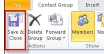 From the Navigation Pane choose a contact list. 3.