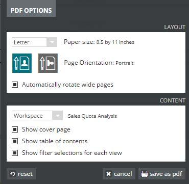 Workspaces and Views Creating a Workspace 2. Choose the Layout Options a. Paper size b. Orientation c. Automatically rotate pages 3. Choose the Content Options for the Workspace/Page/View a.