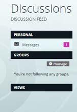 always notified when a discussion takes place. You can also share workspaces with a group.