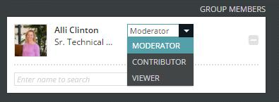 to all Hubble users 5. Add members and their roles. a. Moderator - Can add/remove group
