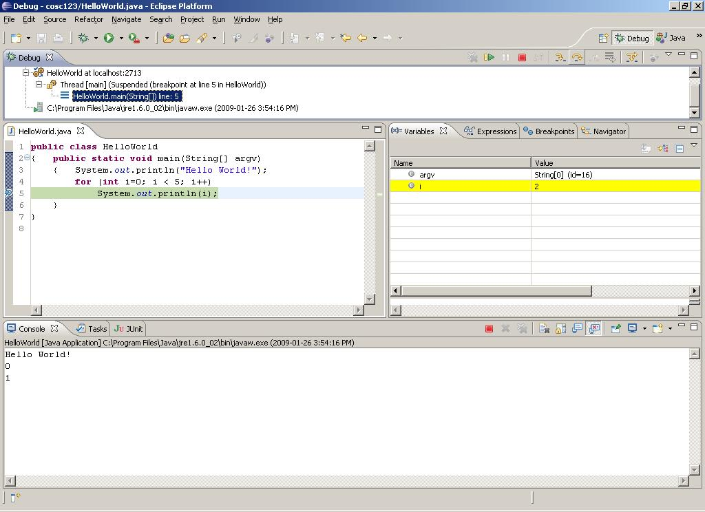 Eclipse Debugging and Breakpoints COSC 123 - Dr.
