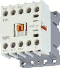 Contacts Resistive Load (AC1) UL HP Ratings (AC3 Motor Load) Single Phase Three Phase 115V 230V 230V 460V 575V Optional Overload Relay GMC-6M-10-120 $14 120VAC (50/60Hz AC) GMC-6M-10-208 $14