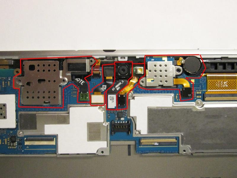 Step 5 Removing the Components Around the Motherboard From the first photo: Remove all the