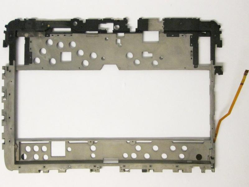 Use two of the plastic prying tools, one for support and the other for prying, to completely separate the LCD casing