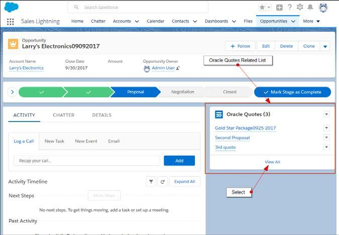 QUOTE MANAGEMENT Salesforce users can better manage their CPQ Cloud quotes in both Lightning and Classic UIs with the following new features: Clone Quotes Move Quotes CLONE QUOTES No one likes