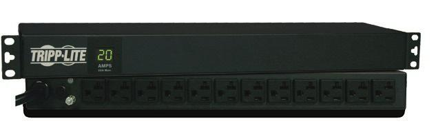 METERED Metered provide all Basic PDU features, plus digital load meters for local current