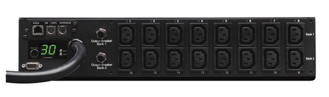 SWITCHED Switched provide all Basic, 1 Metered and Monitored PDU features, plus individual outlet control for remote Network Interface Individual Outlet Control reboots and automated load shedding.