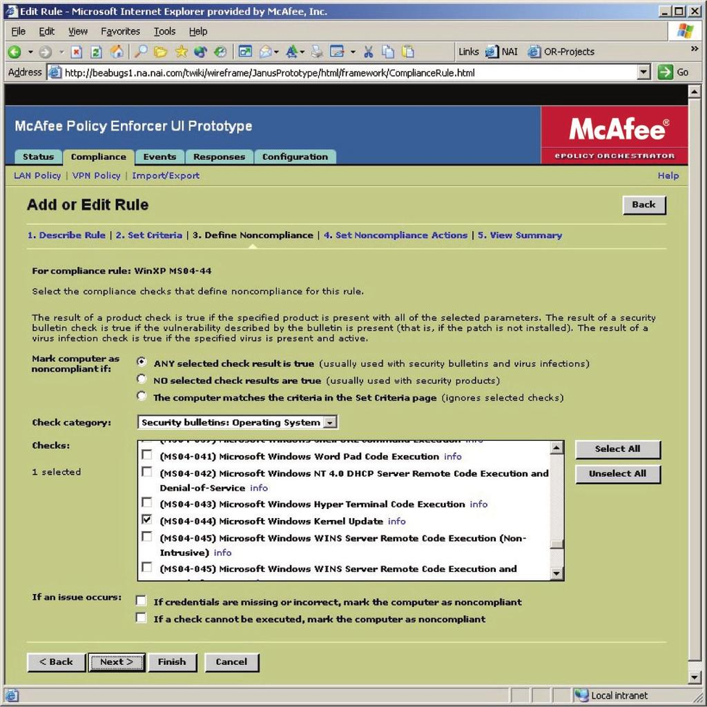 White paper february mcafee policy enforcer securing your policy rules may include how often security patches are updated what version of the virus 1betcityfo Gallery