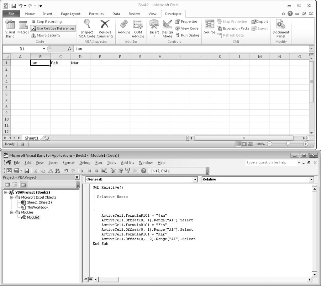 Excel vba programming pdf 88 part ii how vba works with excel figure 6 1 a convenient fandeluxe Gallery