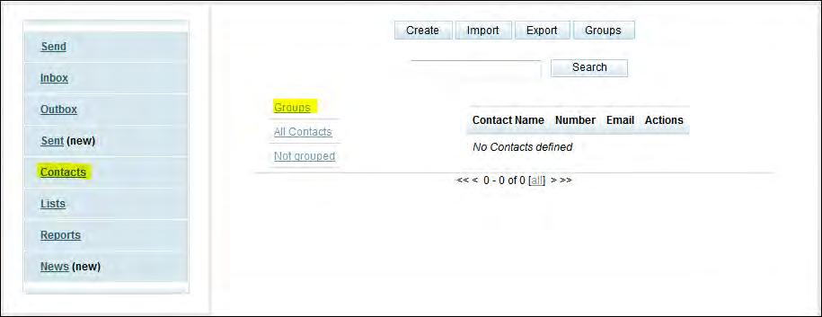 Tick the box next to the contact(s) to be deleted 3.
