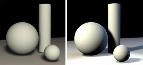Specific Lighting Situations Lighting Creates 3D Form and Depth Lighting a scene properly can add depth