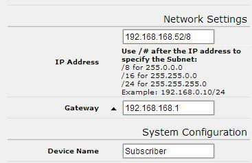 Changing The Configuration - Step by Step Please be aware that if you change the IP Address or User Password and forget their new values, you have locked yourself out of the browser interface.