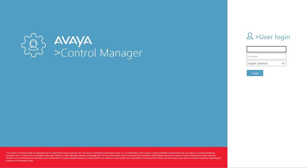 3. Log on to the Avaya Control Manager License Tracker interface as an administrator. The system displays the following page: 4.