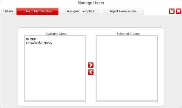 Adding users Note: If you save the user without selecting any role, the system saves the user without assigning any role to the user. 4. Click the Group Membership tab to assign a group to the user.