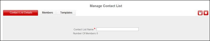 Managing contacts Procedure 1. Click Import Contacts from the Central Management navigation menu. 2.