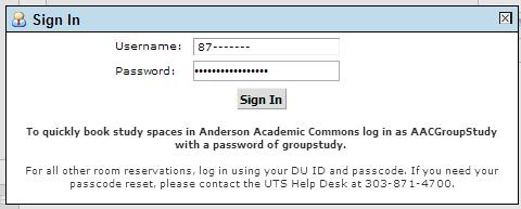 Sign in using your DU ID and passcode.