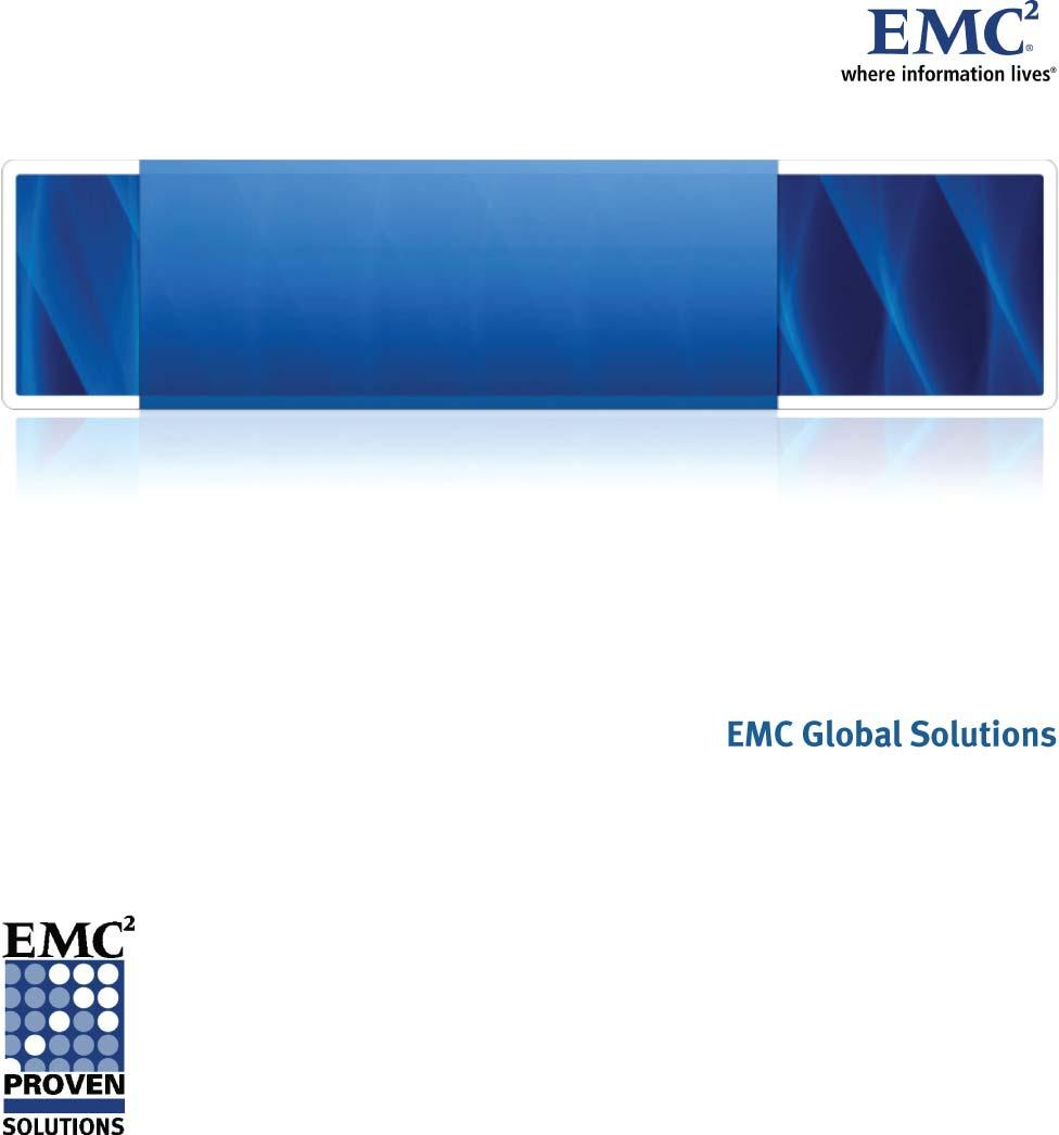 EMC Backup and Recovery for Microsoft Exchange 2007 Enabled by EMC CLARiiON CX4-120,