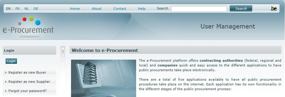 register e procurement