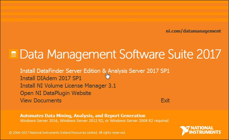 INSTALLATION INSTRUCTIONS Data Management Software Suite in the Evaluation Mode Overview Here are instructions for installing and configuring the Data Management Software Suite, which includes