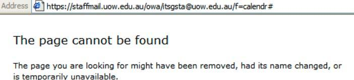 access for you. Login to https://staffmail.uow.edu.au with your username and password. 1. Open a New Window. File Menu New Window. 2. Type in the URL address: https://staffmail.