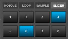 "Slicer mode Press the SLICER MODE button to set the PADS to Slicer mode. The 8 PADS represent eight sequential beats ""Slices"" in the Beat Grid."
