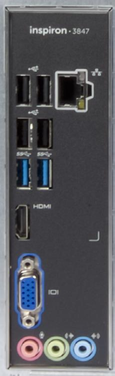 Views Back panel Front USB 2.0 ports (4) Network port USB 3.0 ports (2) Back HDMI-out port VGA port Back panel USB 2.0 ports (4) Connect peripherals, such as storage devices, printers, and so on.