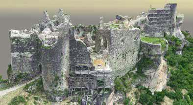 The result of the photogrammetric processing was good; as shown in Figure 6, the model does not have holes, and there are no other obvious errors in the reconstruction of the castle.