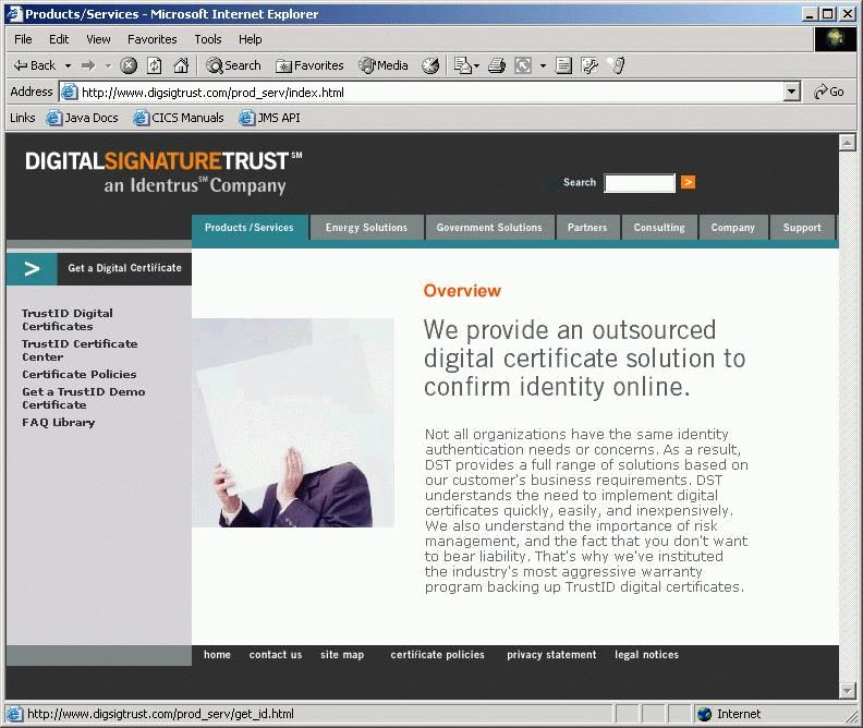 Figure 12-6 Get a TrustID Demo Certificate 3. Fill in the identification form. The certificate is based on the name, organization, and location details.