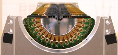 The VELO is a silicon strip detector, consisting