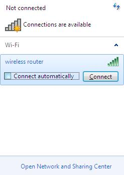 Installation and Connection 6. In the opened window, in the list of available wireless networks, select the wireless network DIR-615 and click the Connect button. Figure 14.