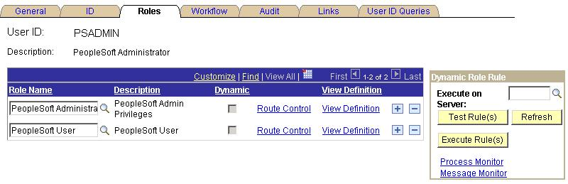 Setting Up PeopleSoft Process Scheduler Security Appendix C Granting a PeopleSoft Process Scheduler System Administration Role You can set up a user ID in PeopleSoft Security as a PeopleSoft Process