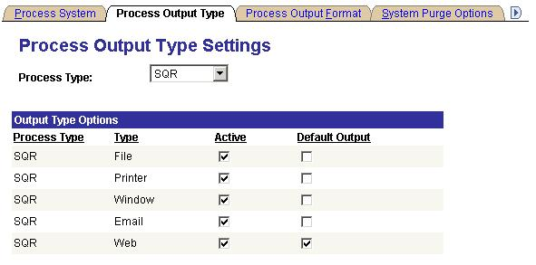 Chapter 6 Defining PeopleSoft Process Scheduler Support Information System Settings Set system settings for the following sequence keys: Process Instance, Report Instance, and Transfer Instance.
