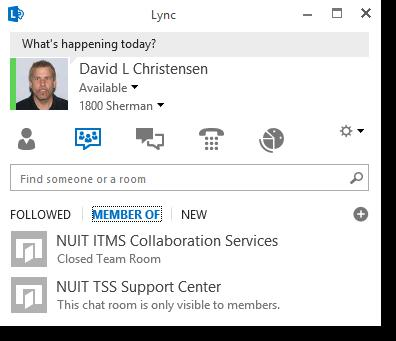 Lync Instant Messaging: Persistent Chat (By