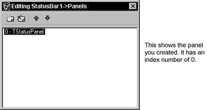 The Panels property is a zero-based array that allows you to access each Panel that you create based on its unique index value (by default, it is 0 for this panel).