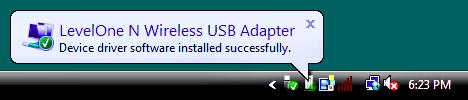 10. Now insert the Wireless USB Adapter into your computer s USB port. The Found New Hardware Wizard will appear. 11.