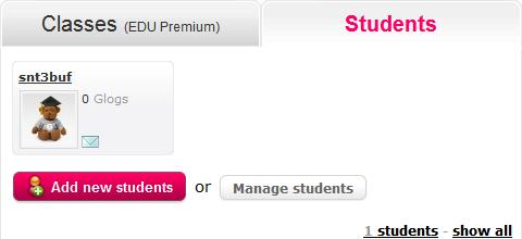 Generate students by inserting the number of students in the popup field, or import students via