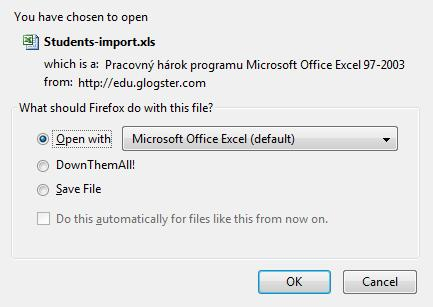 Click OK button to open the excel import sheet. Attention: MS Excel 2007 & 2003 users may need to unblock the Excel Macro content.