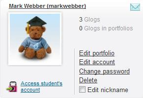 Additional editing of student accounts can be performed by clicking the Manage students button.