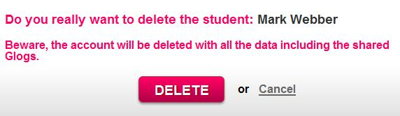 Student will be deleted by clicking the Delete button. 3.6.2.1.