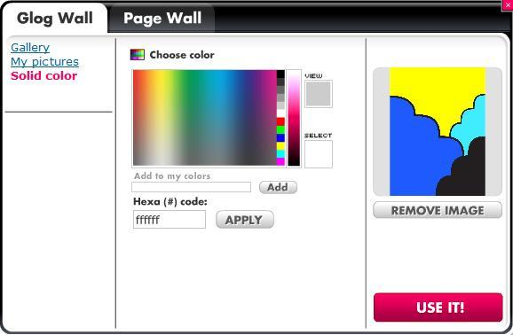 Apply additional options to your Glog Wall from this tab All of the changes need to be confirmed by
