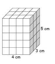 Set 9 (continued) 3. This rectangular prism is made up of one-centimeter cubes. a.