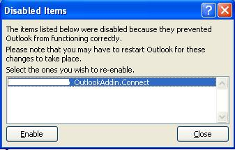 If you still do not see the TM CONNECT Email button from within Outlook, be sure the add-in hasn t been disabled in Outlook.