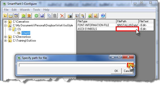 Choose to add an ASCII-SYMBOLS file type as seen below.