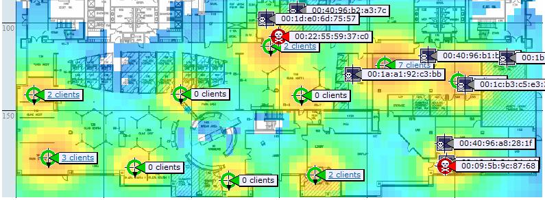 Rogue Location In Real-Time with Prime and Mobility Services Engine (MSE) Context-Aware WiFi Interferer Non-WiFi Interferer Track of multiple rogues in real-time (up to MSE limits) Can track and