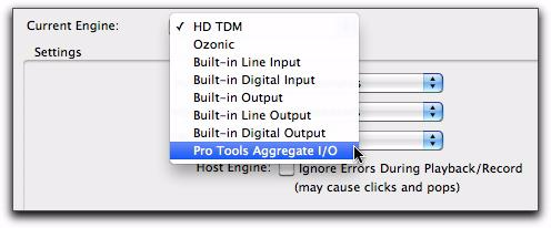 On Pro Tools HD systems, changing engines requires that you quit and relaunch Pro Tools for the new setting to take effect.
