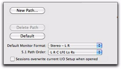 Sessions Overwrite Current I/O Setup When Opened This option determines whether or not, when opening a session, Input, Output, and Insert I/O settings as currently configured on your system will be