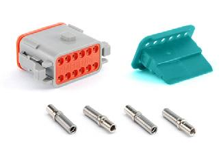 AT 2 POSITIONS 3A AT SERIES STANDARD PLUGS, RECEPTACLES & WEDGELOCKS Contact Size 6 Wire Range (AWG) 4-20 AWG Amperage 3 Plug Part Number Description Part Number Description AT06-2SA