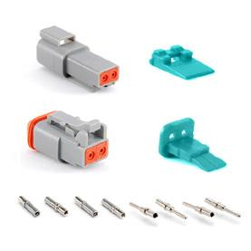 AT 2 POSITIONS 3A AT SERIES STANDARD PLUGS, RECEPTACLES & WEDGELOCKS Contact Size 6 Wire Range (AWG) 4-20 AWG Amperage 3 Plug Part Number Description Part Number Description AT06-2S Plug, 2-Way AW2S