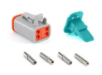 AT 4 POSITIONS 3A AT SERIES STANDARD PLUGS, RECEPTACLES & WEDGELOCKS Contact Size 6 Wire Range (AWG) 4-20 AWG Amperage 3 Plug Part Number Description Part Number