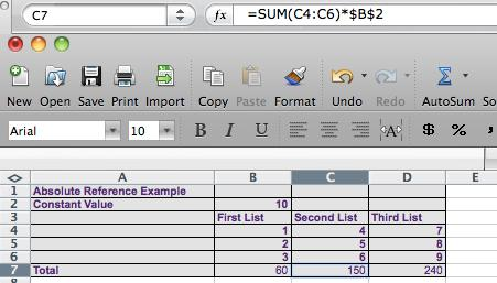 Copying a Formula Using an Absolute Reference 1. Select the cell that contains the formula you want to copy. 2.
